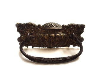 Antique Repousse Drawer Pull