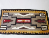 Navajo Rug Saddle Blanket or Tapestry wall hanging art decor Cabin modern rustic
