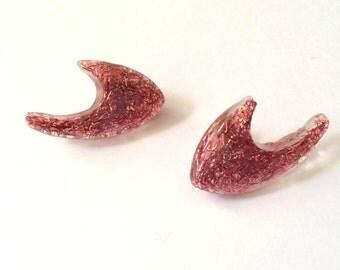 Pink Atomic Earrings