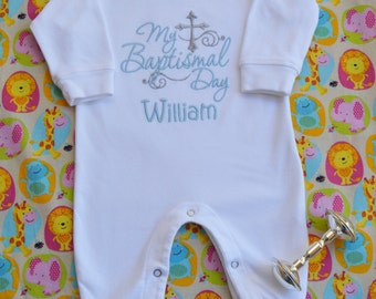 Baby Boy Christening Outfit Baby Boy Baptismal Outfit Baby Boy Dedication Outfit Christian Apparel Baby Boy Clothes