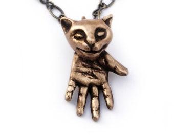 Oddities cat pendant