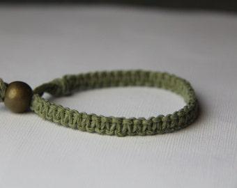 Light Olive Green Hemp Bracelet