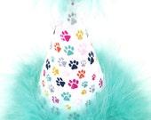 Dog Birthday Hat, Cat Birthday Hat, Paw Print Party Hat, Customizable