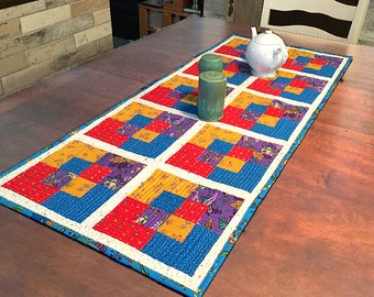 Quilted Table Runner Pattern - Swapped Squares - #550