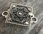 Sterling Square Box Clasp Sterling Silver Jewelry Supply Jewelry Clasps
