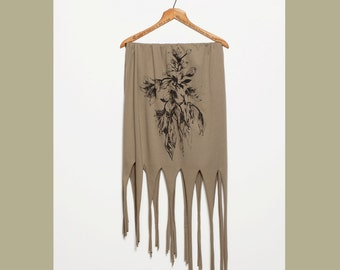 50% Off: The Almond Green Fringe Scarf