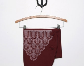 50% Off: The Burgundy Triangle Scarf