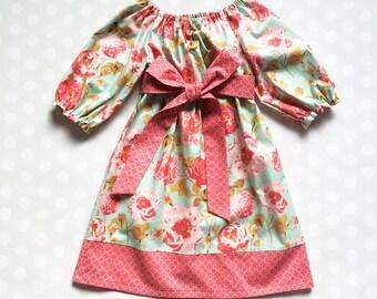 Spring Dress - Girls Dresses - Girls  Dress - Spring Dress - Floral Dress - Girls Dresses - Baby Girl Dresses - Girls Spring Dress