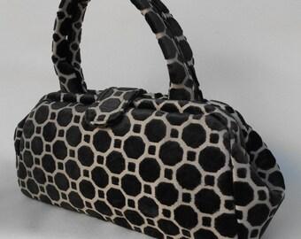 Black Geometric Doctor Bag
