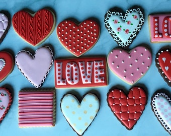 Love Valentine Sugar Cookie Collection