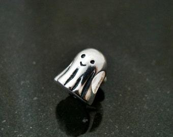 Ghost Universal European Charm Bead fits Trollbeads BHB Sterling Silver