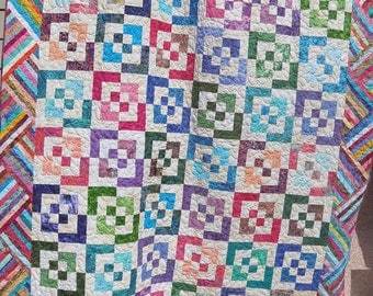REDUCED 95 dollars!  Dreams Do Come True Beautiful King Size Bed Patchwork Quilt by Sweet Tooth Quilts