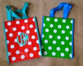 Personalized Reusable Tote - Lunch Bag, Teacher Gift, Wedding Goodie Bag