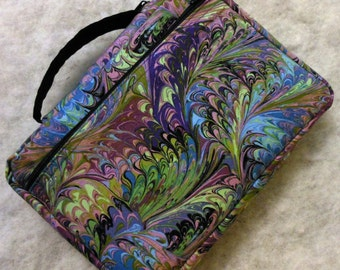 Bible Cover Purple Lavender Green Swirl Cloth