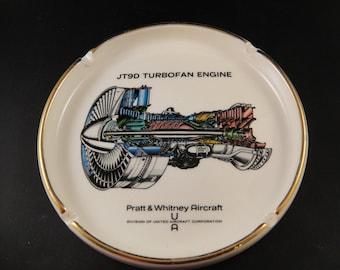 JT9D Turbofan Engine Pratt & Whitney Aircraft China Ashtray