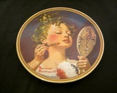 """Norman Rockwell """" Making Beleive At The Mirror"""" Collector Plate, Norman Rockwell Christmas Plate /Gift"""