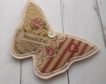 Butterfly Textile Brooch, Pin