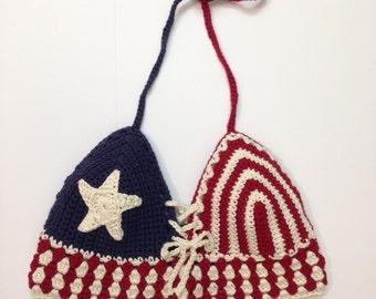 Crochet American Flag Halter- Lana Lone Star Halter