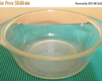 Save 10% Glasbake - J 510 - Clear Round Casserole Dish - 1 Quart W/Tabs - Has Wear Marks- No Lid