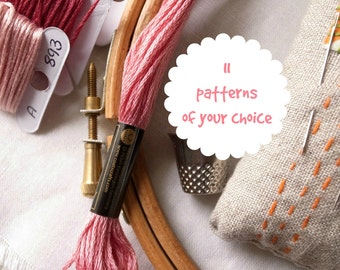11 embroidery patterns of your choice