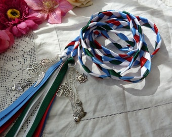 Four elements Handfasting cord- fire earth water air