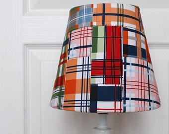 Plaid Kids Lamp Shade