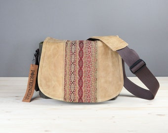 Leather Camera Bag New Satchel  -  Bohemian Chains leather Leather DSLR - PRE-ORDER