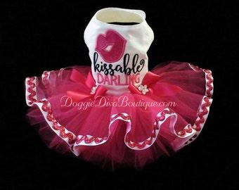 Dog Dress,  Dog Tutu Dress Kissable Darling XS, Small or Medium