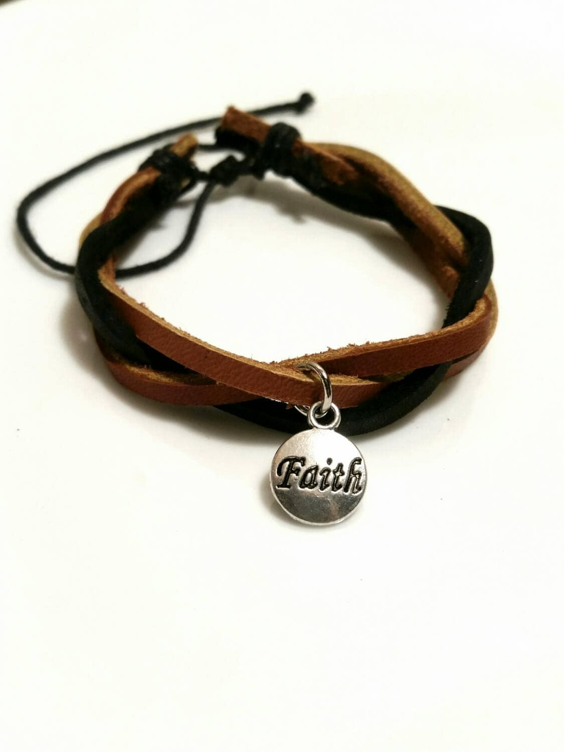 Faith Bracelet Inspirational Jewelry Christian Gifts Leather
