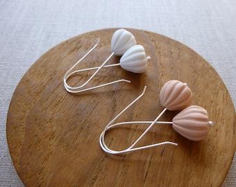 Meringue Porcelain Hook Earrings