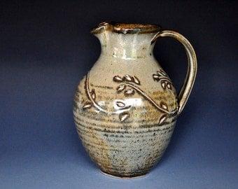 Pottery Pitcher Ceramic Pitcher Stoneware Pitcher Vase