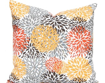 Fall Pillow Cover - Orange Pillow Cover - Decorative Pillow Cover - Thanksgiving Decor - Sofa Pillow Cover - Fall Decorating - Fall Decor
