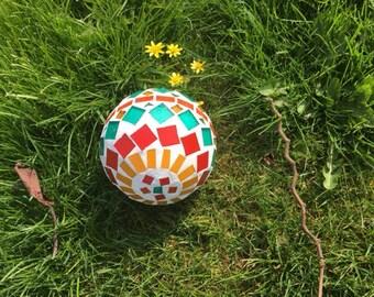 Mosaic garden ball ornament