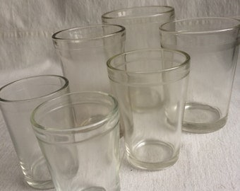 Vintage barware mismatched etched rim hazel atlas juice glass