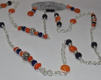 Auburn University necklace and earring set