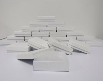 100 Pack White Boxes (3.5 x 3.5 x 1 in) // ECONOMY SIZE //