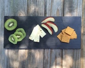"""Slate Cheese Board chipped edges Serving Board with chipped edges  14"""" x 6"""" with soapstone"""