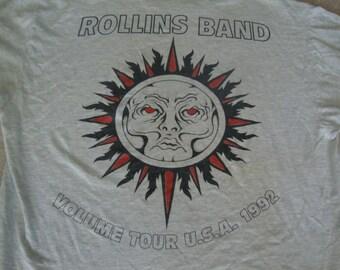 Vintage 90's 1992 Henry ROLLINS BAND of Black Flag Punk Rock concert Tour T Shirt XL