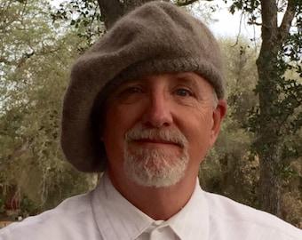 Outlander Inspired Scottish Bonnet- Hand spun- Hand knit-Felted- Made to Order