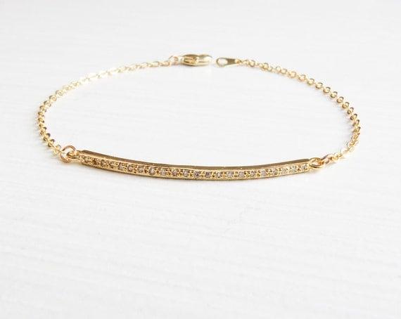 Gold Bar Bracelet | Silver Bar Bracelet | Layering Bracelet | Minimalist Bracelet