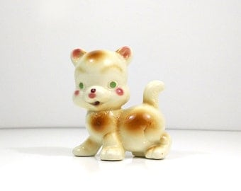 Vintage ceramic kitten figurine