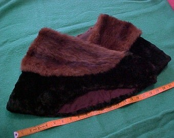 Vintage 30s Huge Mink Fox Fur Shawl Collar for Reworking Art Deco