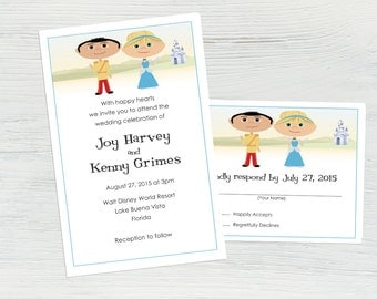 disney wedding invitations  etsy, invitation samples