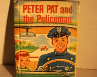 Peter Pat and the Policeman Rand McNally junior elf book vintage children's story