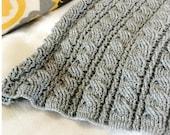 Crochet Afghan Pattern, The Gray Skies Afghan Pattern, Crochet Pattern, Crochet Afghan Pattern, Cabled Afghan Pattern, Blanket Pattern
