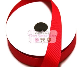 ON SALE Red Ribbon - Wholesale Grosgrain Ribbon - Grosgrain Ribbon 10 Yards - Ribbon - DIY Crafts - Solid Color Ribbon - Ribbon for Bows - R