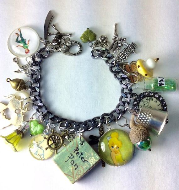 Tinkerbell Charm Bracelet: Peter Pan Neverland Tinkerbell Charm By BeadazzledBySharon