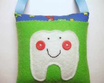 Boys Tooth Fairy Pillow Transportation Vehicles