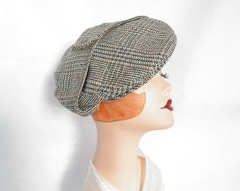 Vintage newsboy hat, Kangol cap, England boyfriend hat