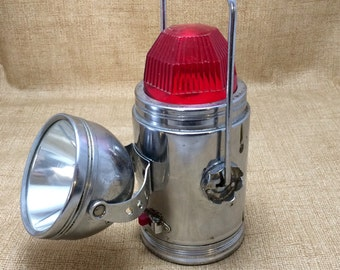 Vintage Ash Flash Chrome Lantern
